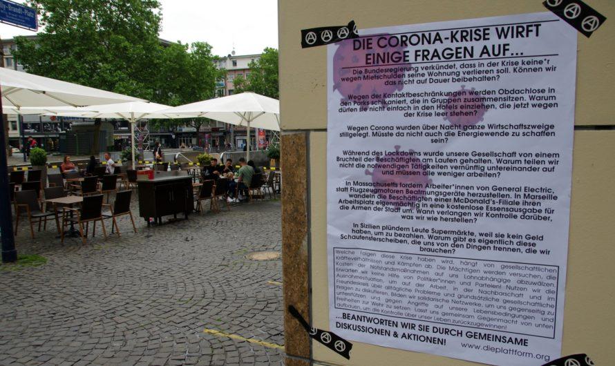 Die Plattform Ruhr Infostand in der Innenstadt trotz Naziangriff