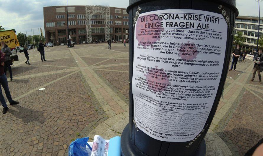 Interventionsversuch auf der Kundgebung gegen Corona-Einschränkungen in Dortmund