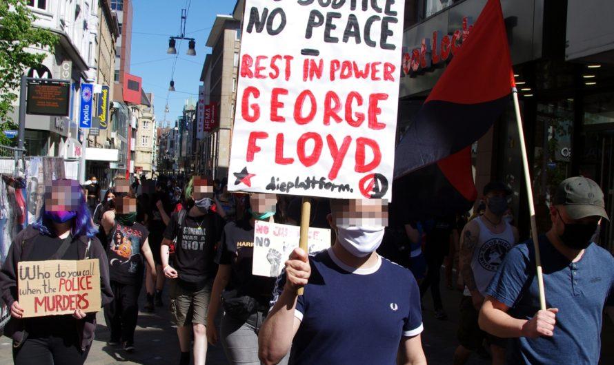 Mobilisierungen im Ruhrgebiet in Solidarität mit den Kämpfen in den USA: große Kundgebung in Essen – kleine Spontandemonstration in Dortmund