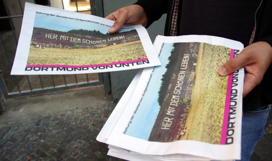 Dortmund von unten: Massenzeitung zu den Kommunalwahlen mit Artikel von der Plattform Ruhr