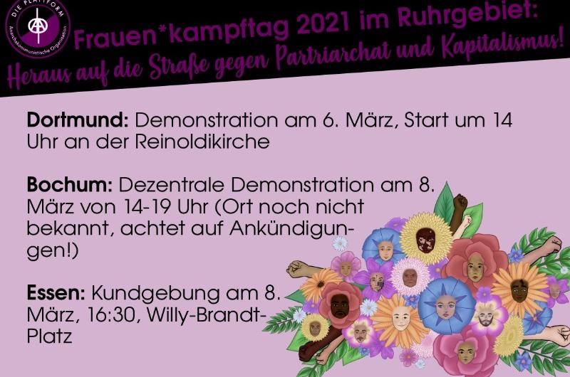 Frauen*kampftag 2021 im Ruhrgebiet