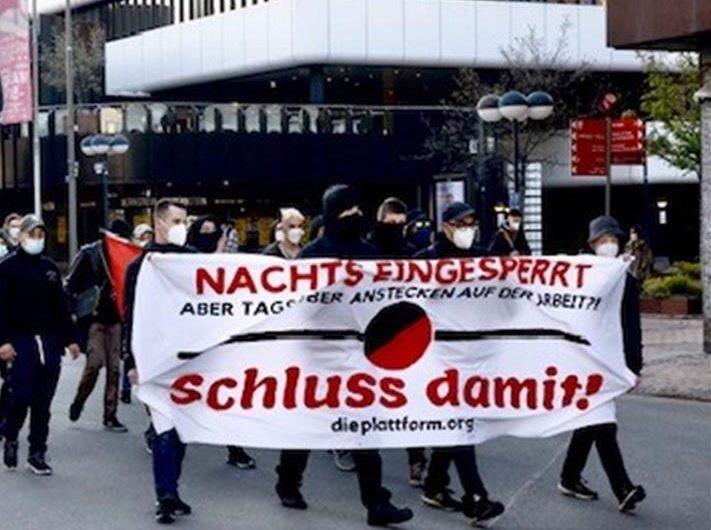 Dortmund: Spontandemonstration gegen Ausgangssperren